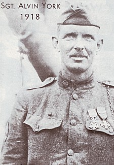 Sgt Alvin York, held van de 82nd Infantry Division.